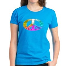 Peace Rainbow Splash Tee