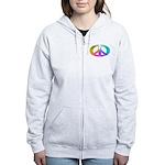 Peace Rainbow Splash Women's Zip Hoodie