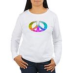 Peace Rainbow Splash Women's Long Sleeve T-Shirt