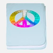 Peace Rainbow Splash baby blanket
