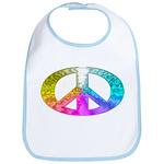 Peace Rainbow Splash Bib