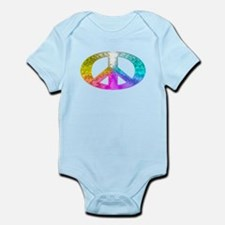Peace Rainbow Splash Infant Bodysuit