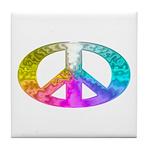 Peace Rainbow Splash Tile Coaster