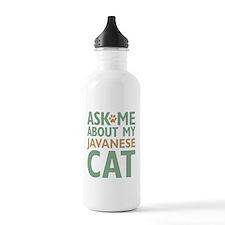 Javanese Cat Sports Water Bottle