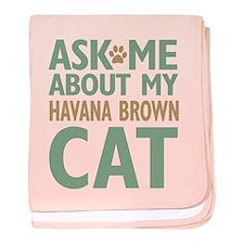 Havana Brown baby blanket