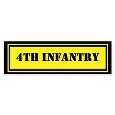 4th Infantry Bumper Sticker