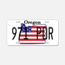 OR USA Aluminum License Plate