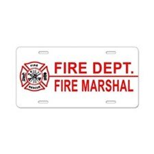Fire Marshal License Plate Aluminum License Plate