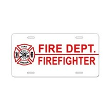 Firefighter Aluminum License Plate