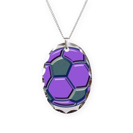 Soccer Impressions Necklace Oval Charm