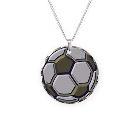 Soccer Impressions Necklace Circle Charm