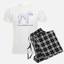 I Love my Bedlington Terrier Pajamas
