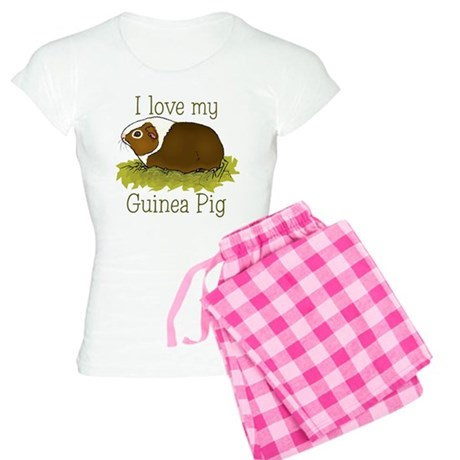 I Love my Guinea Pig Women's Light Pajamas