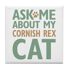 Cornish Rex Cat Tile Coaster