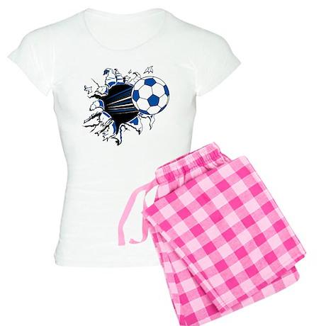 Soccer Ball Burst Women's Light Pajamas
