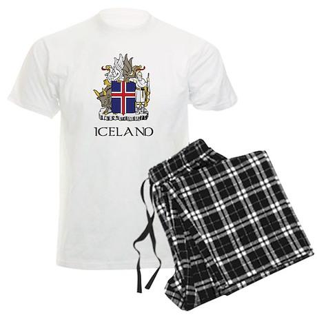 Iceland Coat of Arms Men's Light Pajamas
