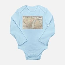 Vintage Map of Michigan & Wisconsin (186 Body Suit