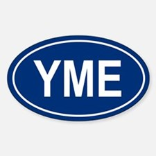 YME Oval Bumper Stickers