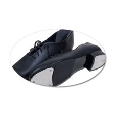 Tap Shoes 22x14 Oval Wall Peel