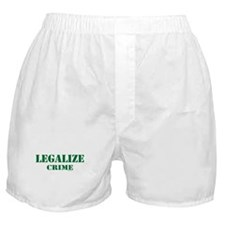 "SharpTee's ""Legalize Crime"" Boxer Shorts"