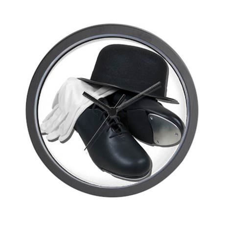 Tap Shoes Bowler Hat Gloves Wall Clock