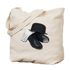 Tap Shoes Bowler Hat Gloves Tote Bag