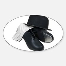 Tap Shoes Bowler Hat Gloves Decal