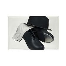 Tap Shoes Bowler Hat Gloves Rectangle Magnet