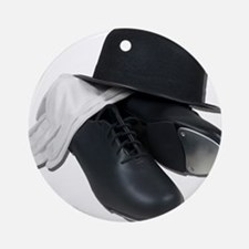 Tap Shoes Bowler Hat Gloves Ornament (Round)