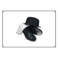 Tap Shoes Bowler Hat Gloves Banner