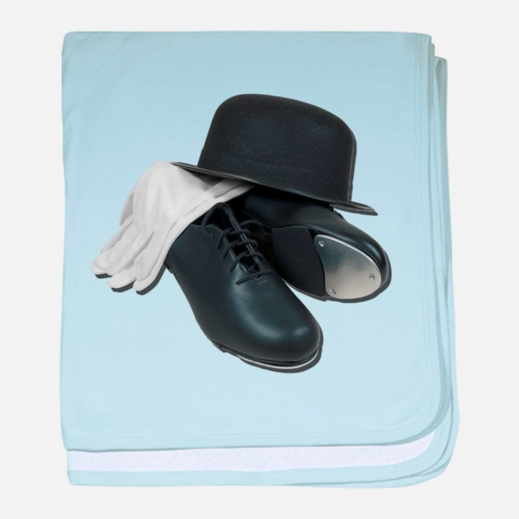 Tap Shoes Bowler Hat Gloves baby blanket