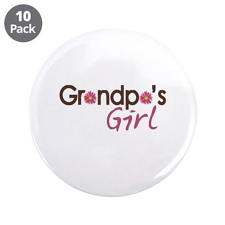 "Grandpa's Girl 3.5"" Button (10 pack)"