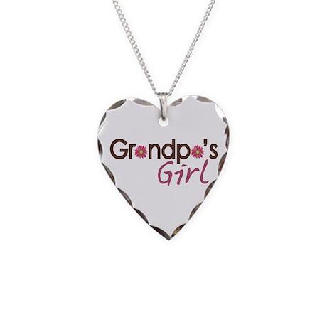 Grandpa's Girl Necklace Heart Charm