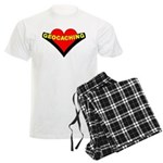 Geocaching Heart Men's Light Pajamas