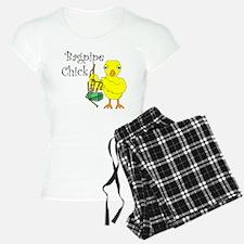 Bagpipe Chick Text Pajamas