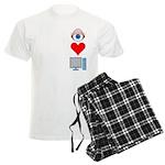 Eye Heart Computers Men's Light Pajamas