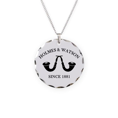 Holmes & Watson Since 1881 Necklace Circle Charm