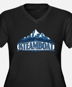 Steamboat Blue Mountain Women's Plus Size V-Neck D