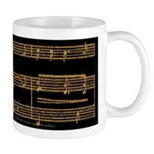 Golden Music Mug
