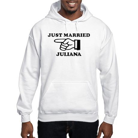 Just Married Juliana Hooded Sweatshirt