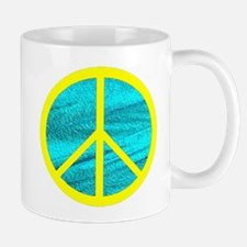 Peace Yellow Peace Symbol Mug