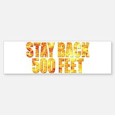 Firefighters: Stay back Sticker (Bumper)