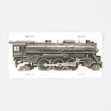VINTAGE TRAIN TOYS Aluminum License Plate