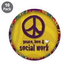"Peace, Love, & SW 3.5"" Button (10 pack)"