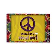 Peace, Love, & SW Rectangle Magnet 100 pk
