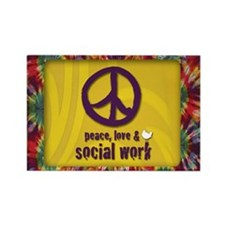 Peace, Love, & SW Rectangle Magnet 10 pk