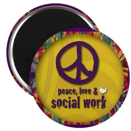 Peace, Love, & Social Work Magnet