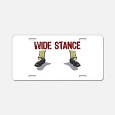 Wide Stance Feet Aluminum License Plate
