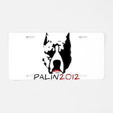 Pitbull with Lipstick - Palin Aluminum License Pla