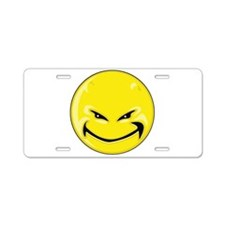Smiley Face - Yellow Devil Aluminum License Plate